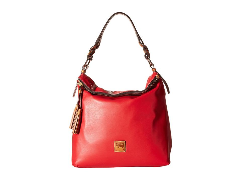 Dooney & Bourke - Newbury Leather Sloan (Cherry w/ Natural Trim) Handbags