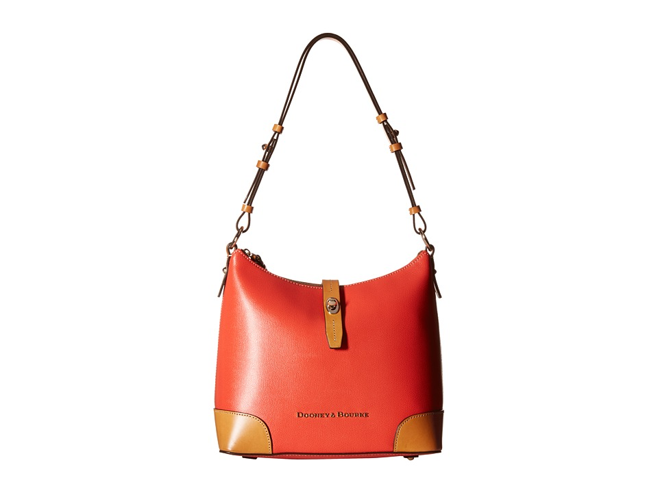 Dooney & Bourke - Claremont Hobo (Geranium w/ Butterscotch Trim) Hobo Handbags