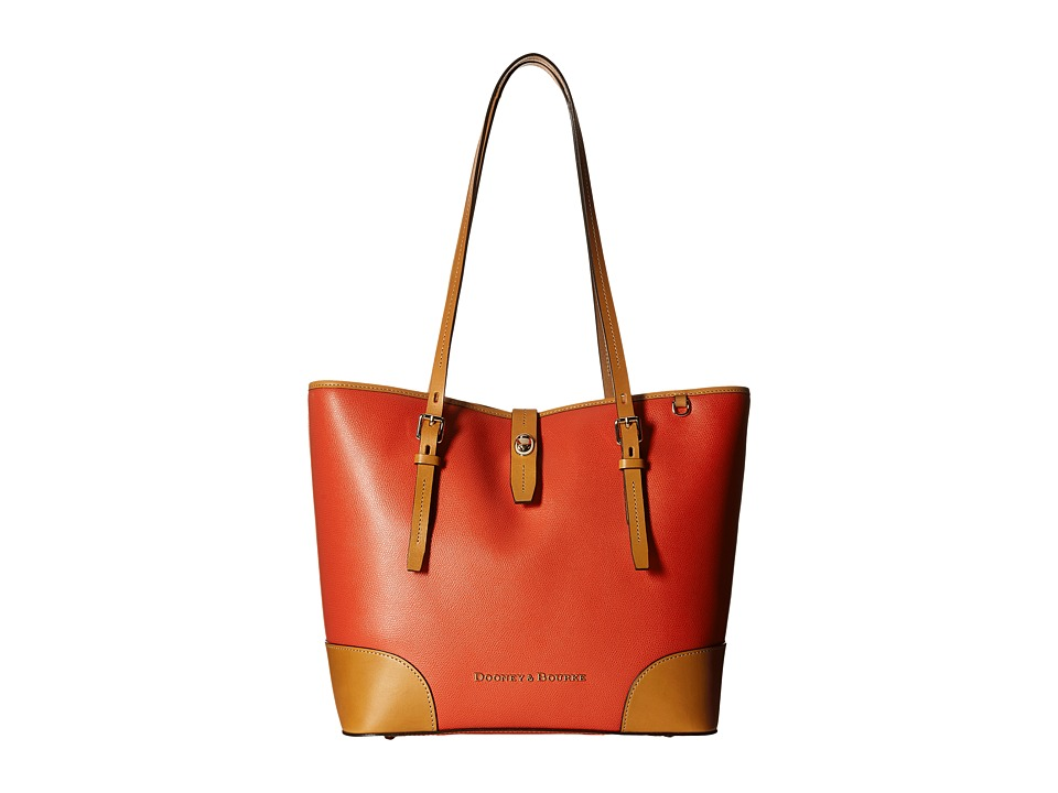 Dooney & Bourke - Claremont Dover Tote (Geranium w/ Butterscotch Trim) Tote Handbags