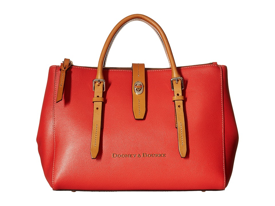 Dooney & Bourke - Claremont Miller Satchel (Geranium w/ Butterscotch Trim) Satchel Handbags