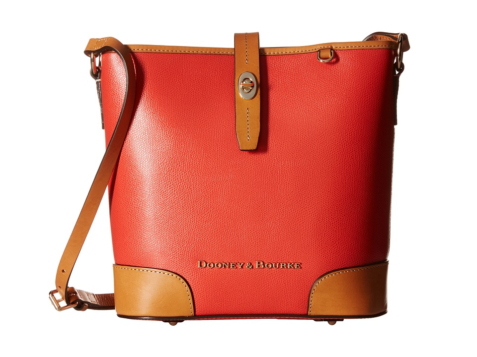 Dooney & Bourke - Claremont Crossbody Bucket (Geranium w/ Butterscotch Trim) Cross Body Handbags