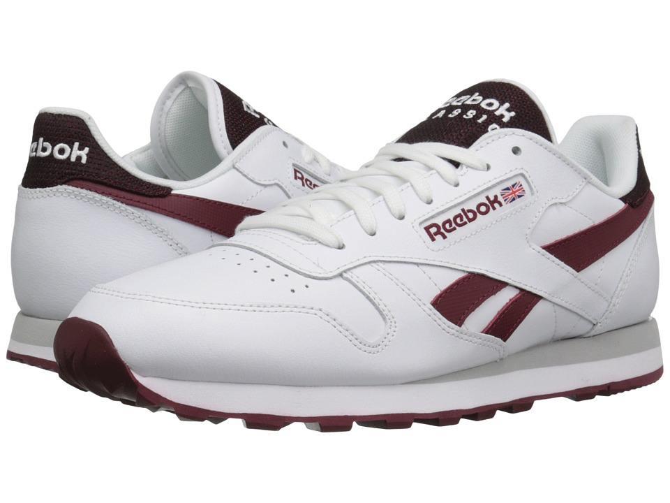 Reebok Lifestyle - Classic Leather Pop SC (White/Merlot) Men's Classic Shoes