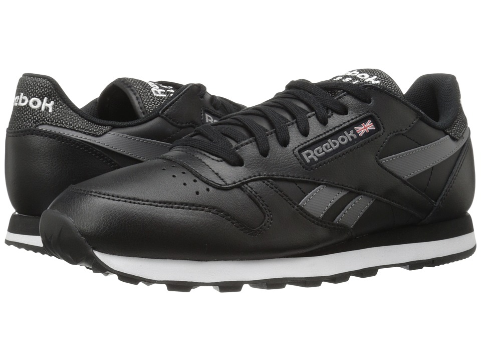 Reebok Lifestyle - Classic Leather Pop SC (Black/Shark/White) Men's Classic Shoes