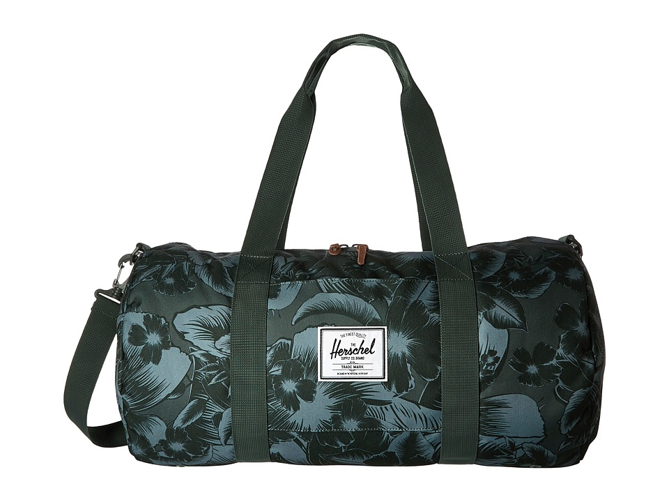 Herschel Supply Co. - Sutton Mid-Volume (Jungle Floral Green) Duffel Bags