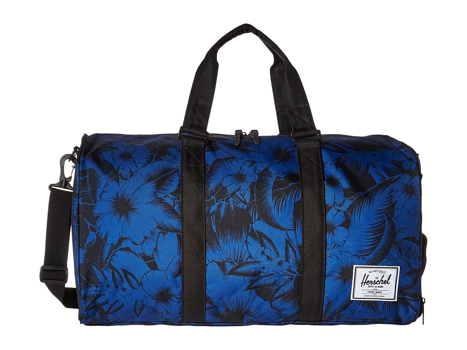 Herschel Supply Co. - Novel (Jungle Floral Blue/Black) Duffel Bags