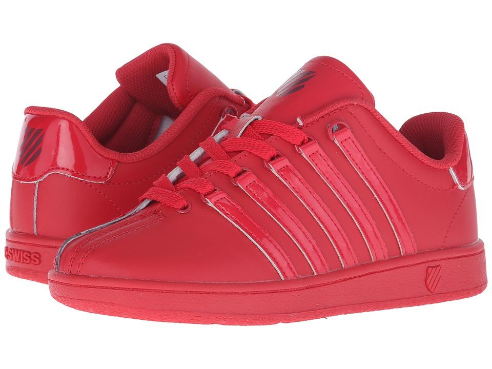 K-Swiss Kids - Classic VN (Big Kid) (Red Ribbon/Merlot Leather) Kids Shoes