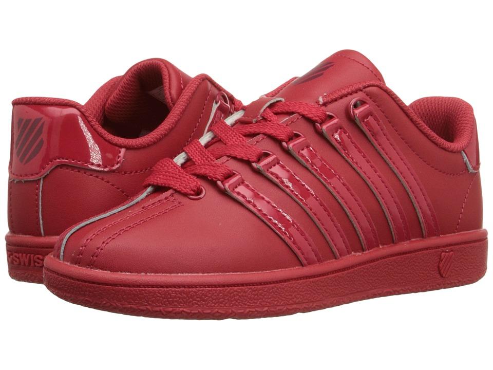K-Swiss Kids - Classic VN (Little Kid) (Red Ribbon/Merlot Leather) Kids Shoes