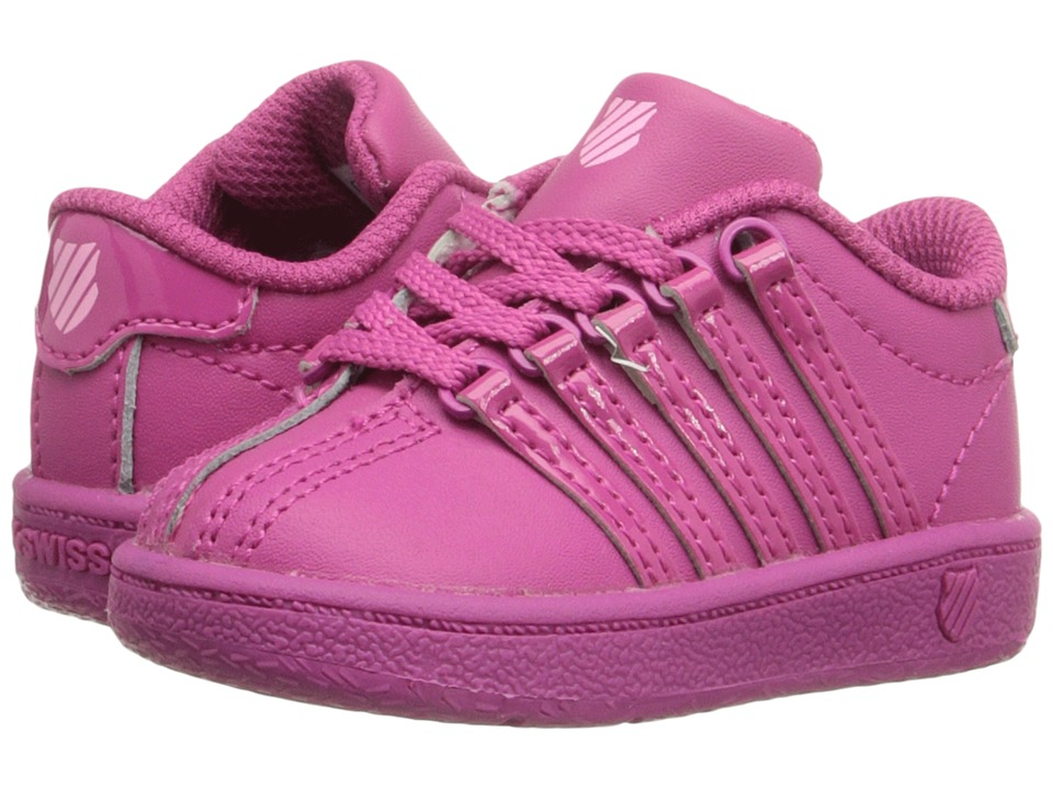K-Swiss Kids - Classic VN (Infant/Toddler) (Very Berry/Pink Leather) Kids Shoes