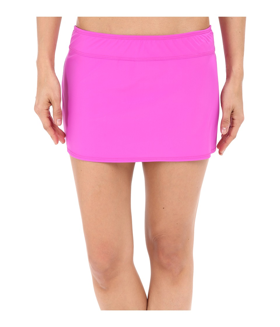 Athena - Cabana Solids A-Line Skirt (Raspberry) Women's Swimwear