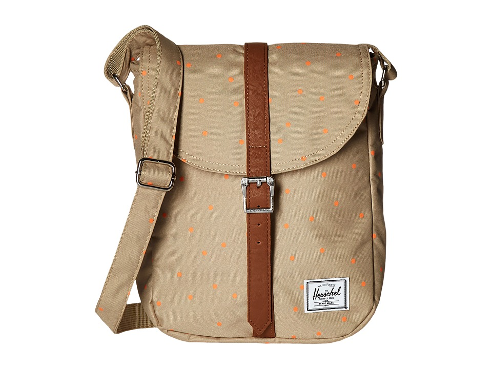 Herschel Supply Co. - Kingsgate (Khaki/Nectarine Scatter) Cross Body Handbags