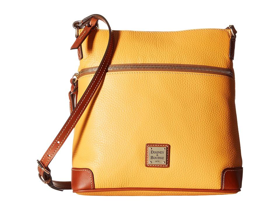 Dooney & Bourke - Pebble Crossbody (Melon w/ Tan Trim) Cross Body Handbags
