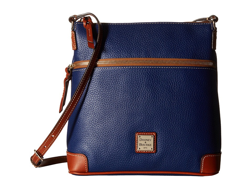 Dooney & Bourke - Pebble Crossbody (Cobalt w/ Tan Trim) Cross Body Handbags