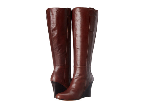 Nine West - Oran Wide Calf (Dark Brown Leather) Women
