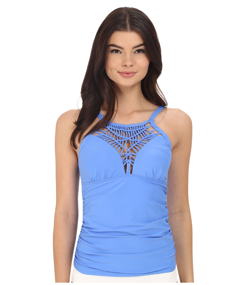 Athena Cabana Solids High Neck Tankini Top (Corn Flower) Women