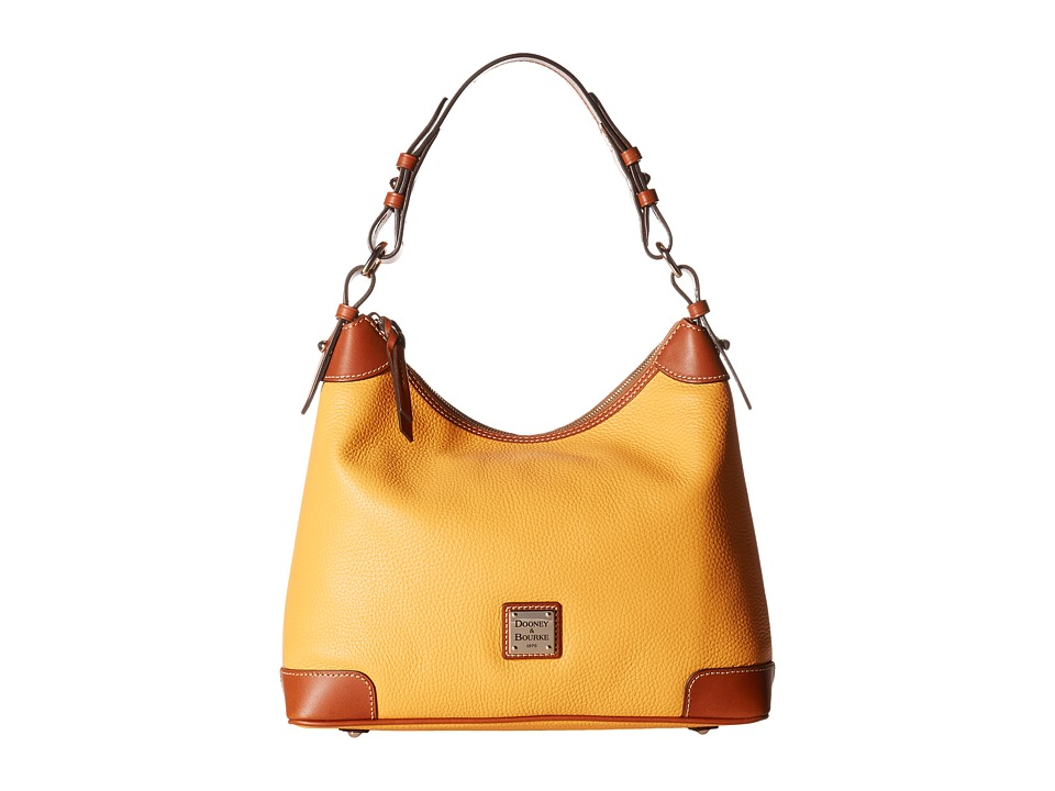 Dooney & Bourke - Pebble Hobo (Melon w/ Tan Trim) Hobo Handbags