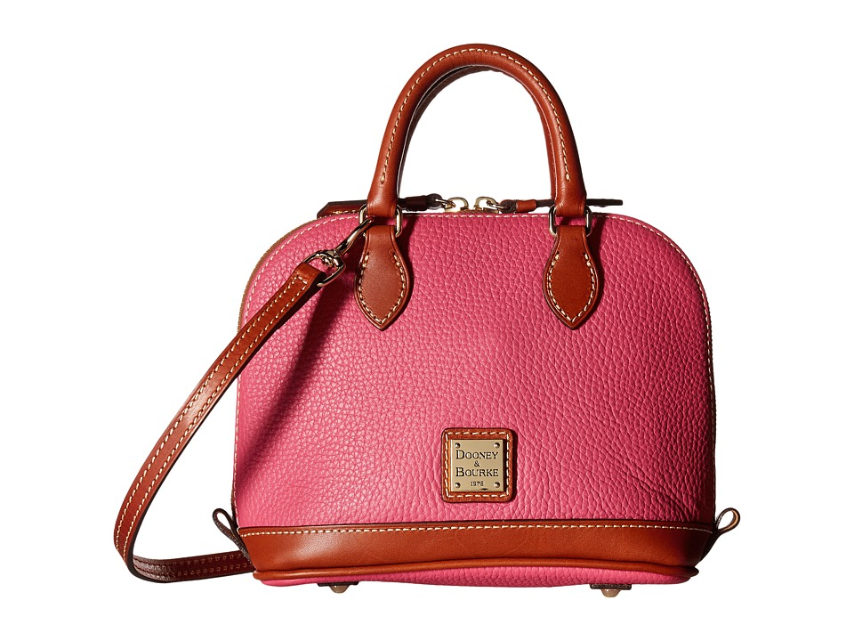 Dooney & Bourke - Pebble Bitsy Bag (Hot Pink w/ Tan Trim) Satchel Handbags