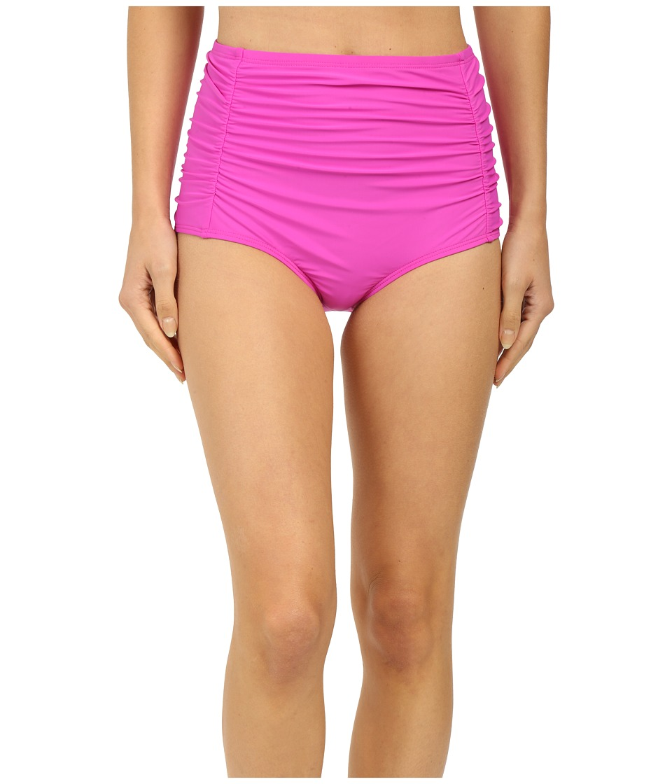 Athena - Cabana Solids High Waist Bottom (Raspberry) Women's Swimwear