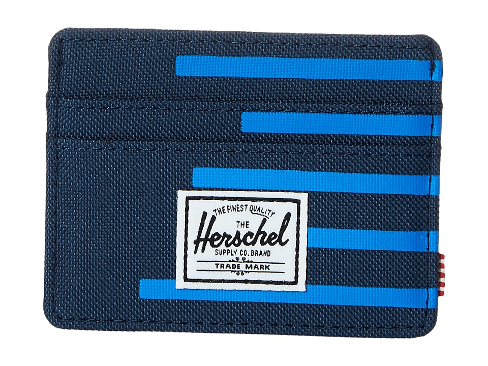 Herschel Supply Co. - Charlie (Navy/Cobalt Stripes) Credit card Wallet