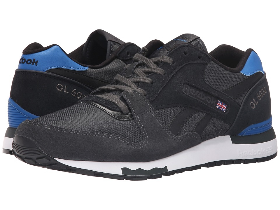 Reebok - GL 6000 Athletic (Gravel/Black/Blue Sport/White) Men's Shoes