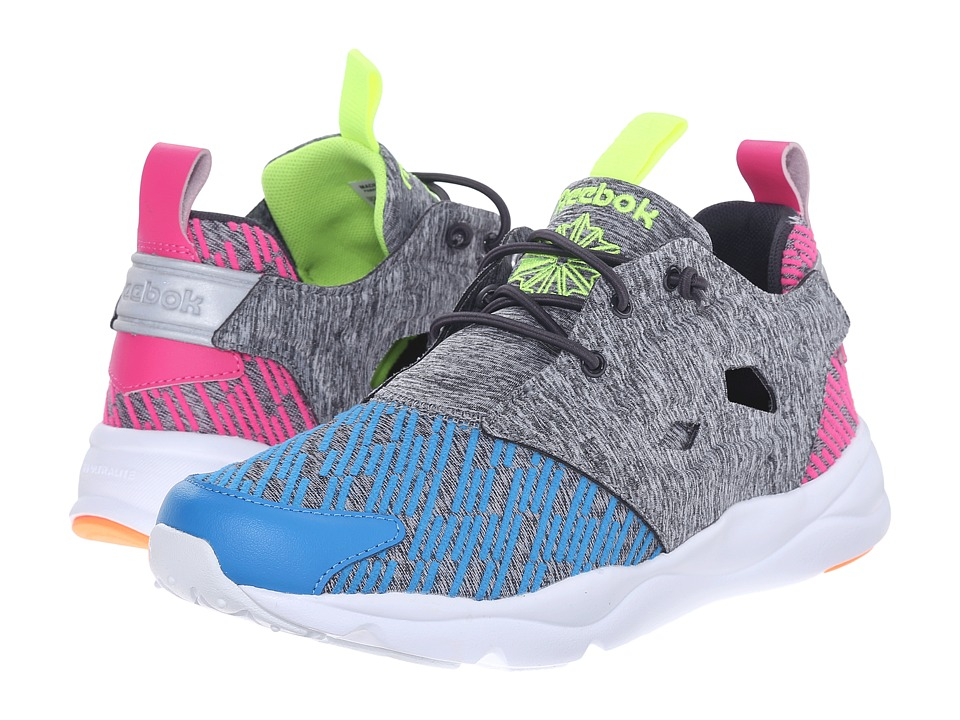Reebok Lifestyle - Furylite Contemporary (Electric Blue/Coal/Dynamic Pink/Electric Peach/Yellow) Women's Shoes