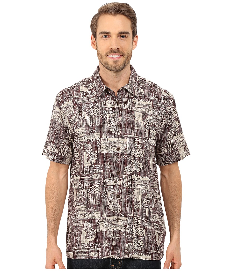 Quiksilver Waterman - Oak Harbor Woven Shirt (Sandbar) Men's Short Sleeve Button Up
