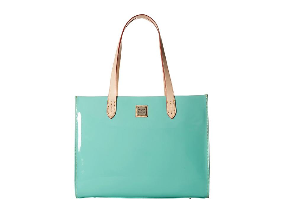 Dooney & Bourke - Pebble Patent Shopper (Celery w/ Natural Trim) Handbags