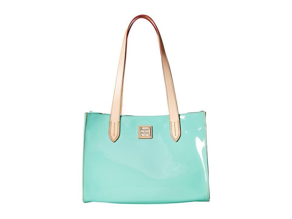 Dooney & Bourke - Pebble Patent Small Shopper (Celery w/ Natural Trim) Handbags