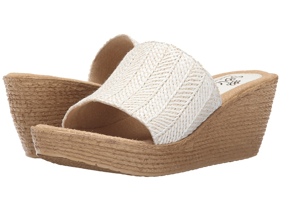 Sbicca - Fiorella (White) Women's Wedge Shoes