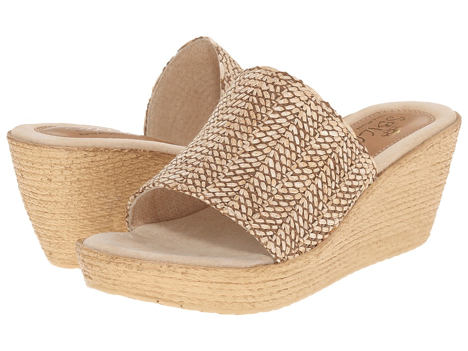 Sbicca - Fiorella (Natural) Women's Wedge Shoes