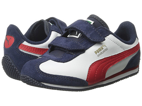 Puma Kids - Whirlwind L V (Toddler/Little Kid) (Peacoat/White/High Risk Red) Boy