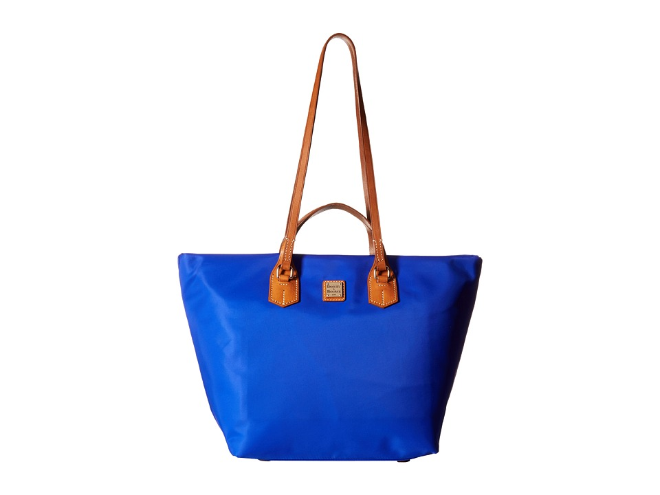 Dooney & Bourke - Windham Large Leighton Tote (French Blue w/ Natural Trim) Tote Handbags