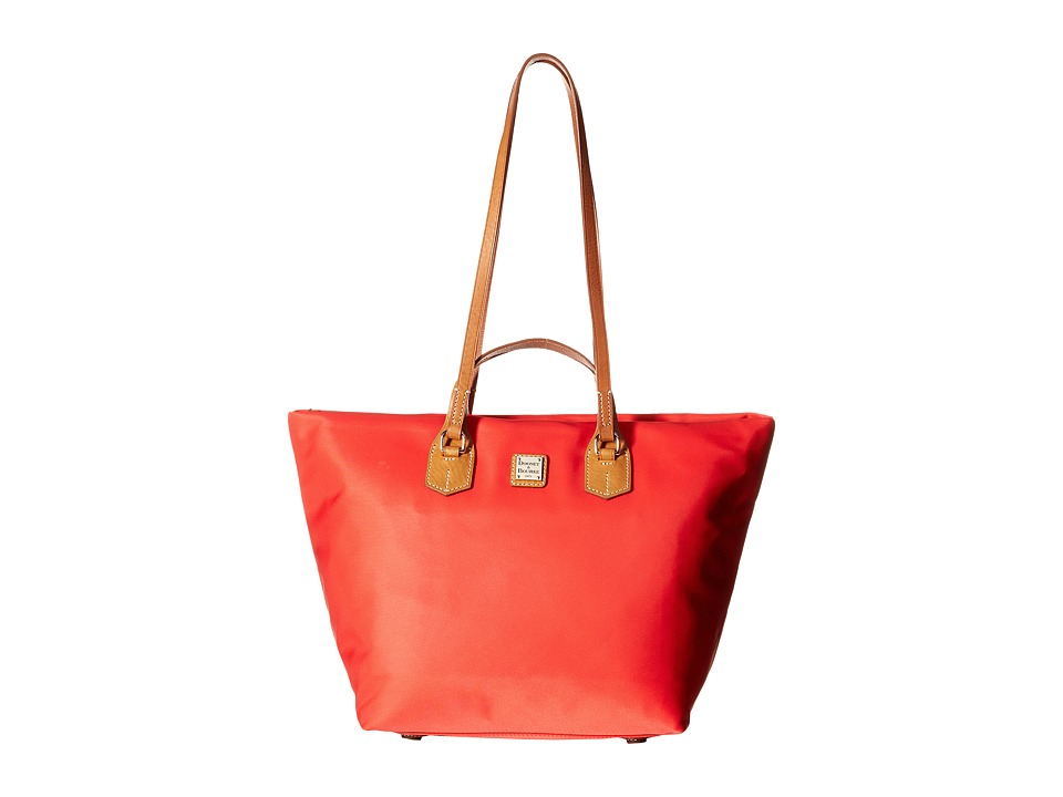 Dooney & Bourke - Windham Large Leighton Tote (Red w/ Natural Trim) Tote Handbags
