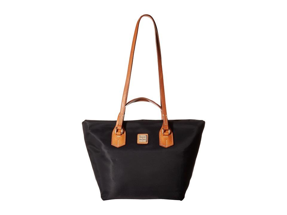 Dooney & Bourke - Windham Leighton Tote (Black w/ Natural Trim) Tote Handbags