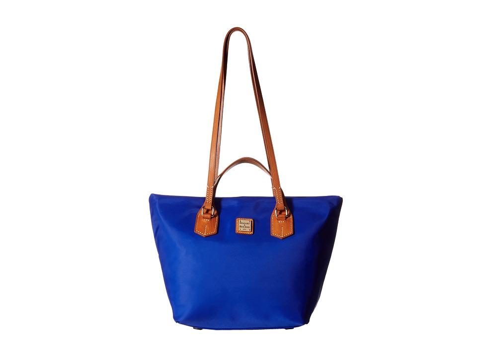Dooney & Bourke - Windham Leighton Tote (French Blue w/ Natural Trim) Tote Handbags