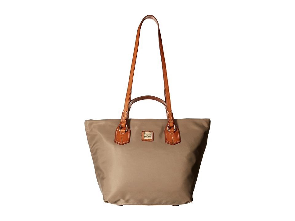Dooney & Bourke - Windham Leighton Tote (Taupe w/ Natural Trim) Tote Handbags