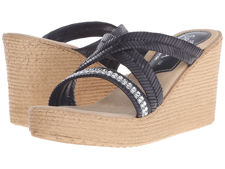 Sbicca - Zennia (Black) Women's Wedge Shoes