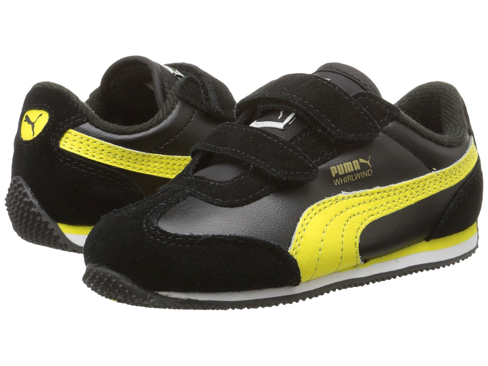 Puma Kids - Whirlwind L V (Toddler/Little Kid) (Black/Blazing Yellow) Boy's Shoes