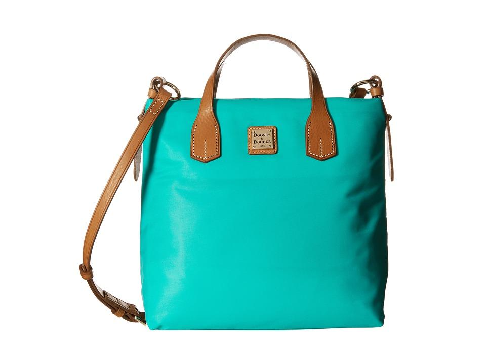 Dooney & Bourke - Windham Cleo Letter Carrier (Aqua w/ Natural Trim) Cross Body Handbags