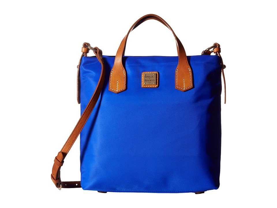 Dooney & Bourke - Windham Cleo Letter Carrier (French Blue w/ Natural Trim) Cross Body Handbags