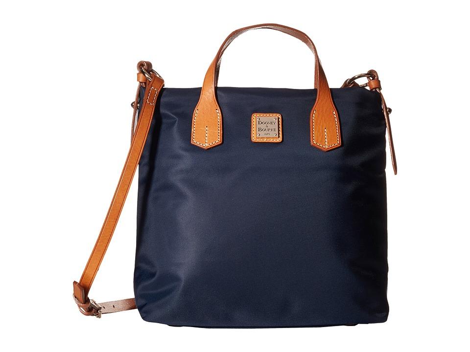 Dooney & Bourke - Windham Cleo Letter Carrier (Navy w/ Natural Trim) Cross Body Handbags