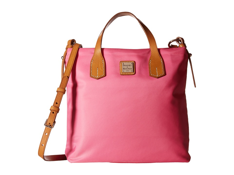 Dooney & Bourke - Windham Cleo Letter Carrier (Pink w/ Natural Trim) Cross Body Handbags