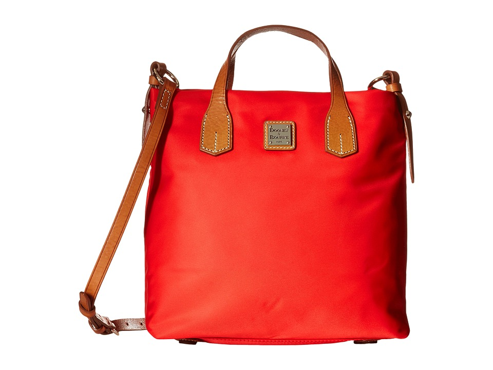 Dooney & Bourke - Windham Cleo Letter Carrier (Red w/ Natural Trim) Cross Body Handbags