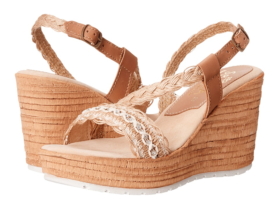 Sbicca - Carice (Natural) Women's Wedge Shoes