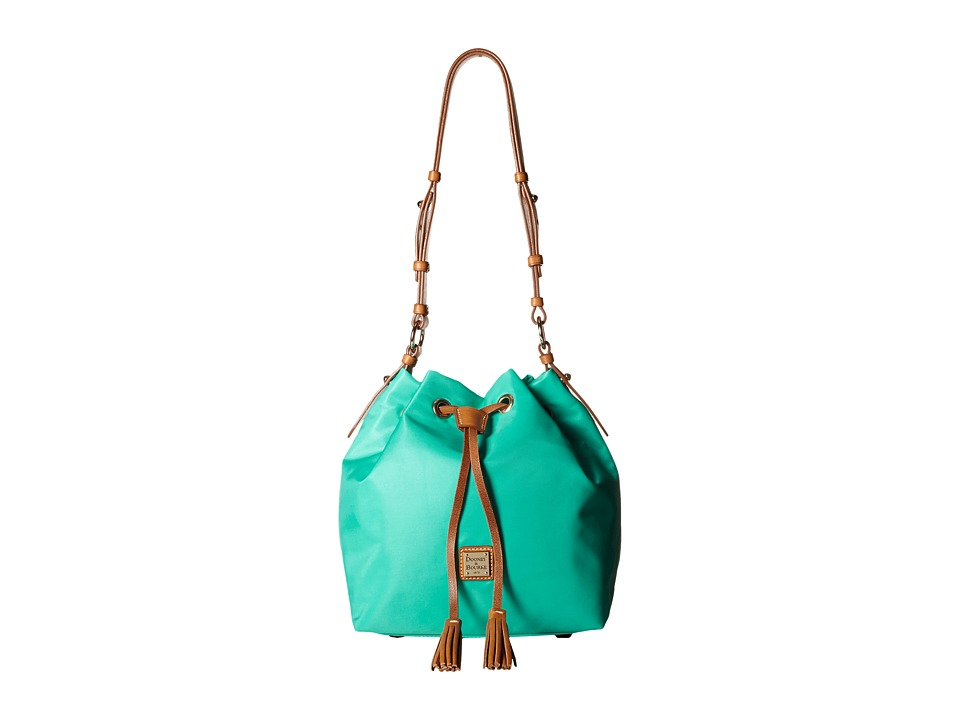 Dooney & Bourke - Windham Small Kade Drawstring (Aqua w/ Natural Trim) Shoulder Handbags