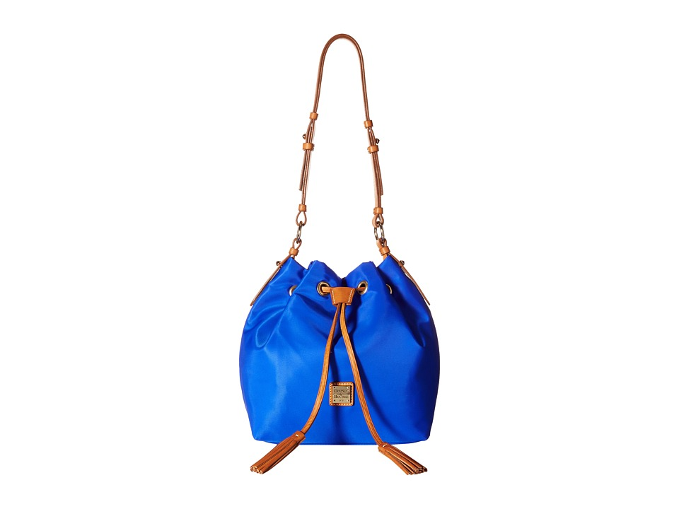 Dooney & Bourke - Windham Small Kade Drawstring (French Blue w/ Natural Trim) Shoulder Handbags