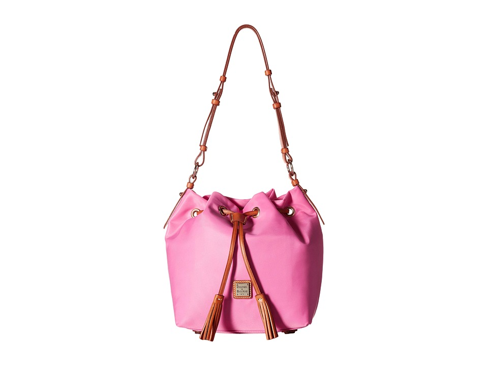 Dooney & Bourke - Windham Small Kade Drawstring (Pink w/ Natural Trim) Shoulder Handbags