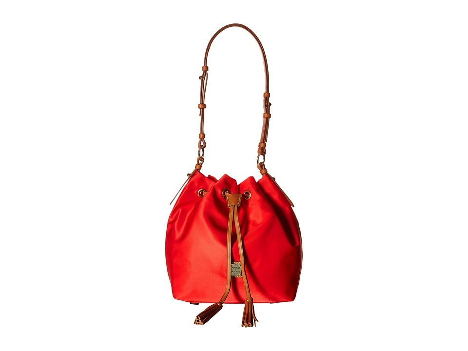 Dooney & Bourke - Windham Small Kade Drawstring (Red w/ Natural Trim) Shoulder Handbags
