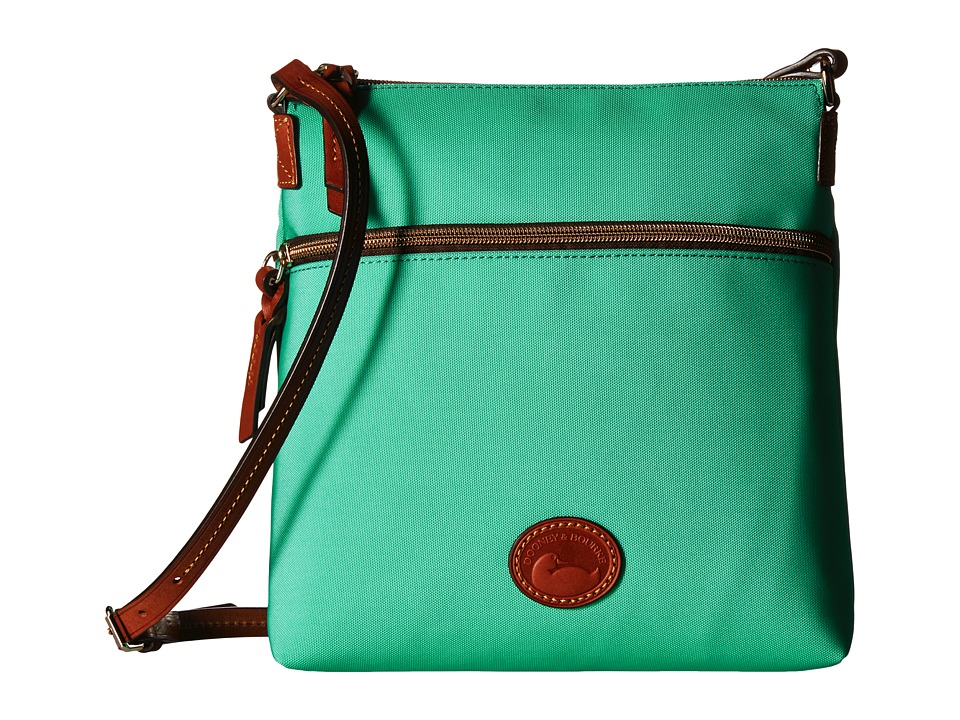 Dooney & Bourke - Nylon Crossbody (Mint w/ Tan Trim) Cross Body Handbags