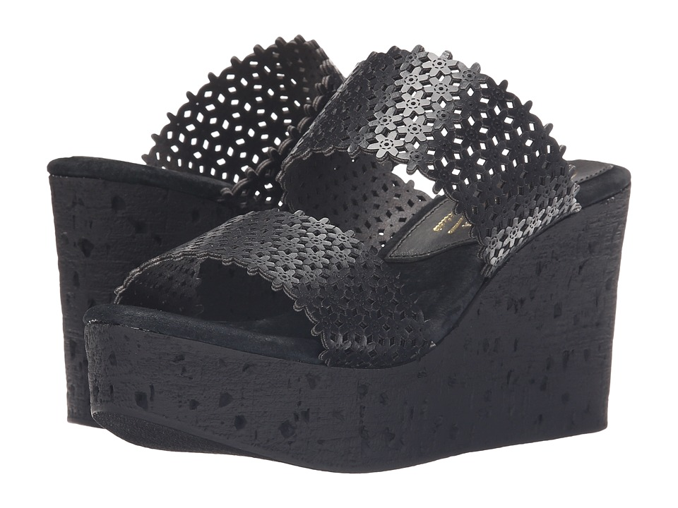 Sbicca - Romia (Black) Women's Wedge Shoes