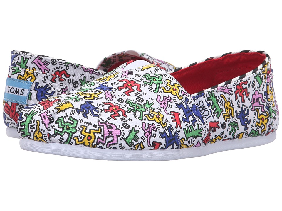 TOMS - Seasonal Classics - Keith Haring (Keith Haring Pop) Women's Slip on Shoes